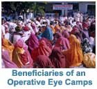 Beneficaries of an Operative Eye Camp